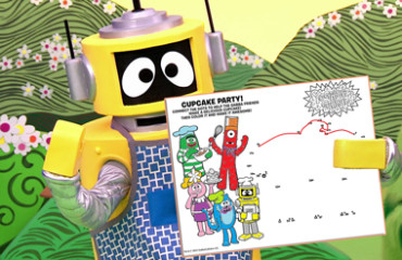 Yo Gabba Gabba Cupcake Party - Connect the Dots! Image