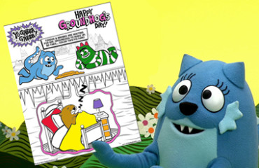 Yo Gabba Gabba Groundhog's Day - Coloring Sheet! Image