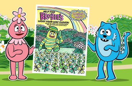 Yo Gabba Gabba St.Patrick's Day - Activity Sheet! Image